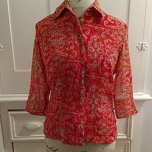 Will Smith silk blouse